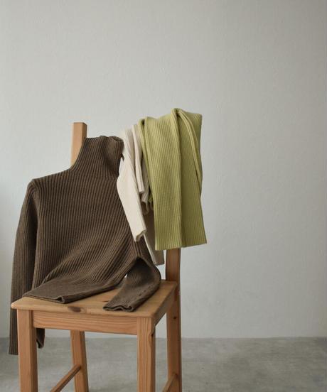 knit-02107 RIB TURTLENECK KNIT