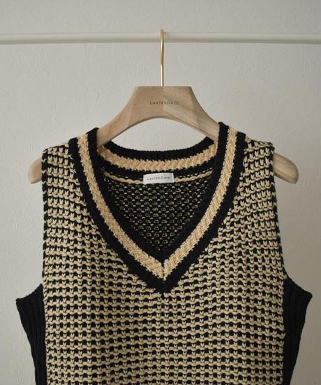 knit-02144 V-NECK NKIT VEST