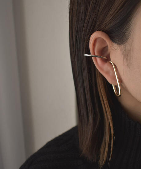 earcuff-02017  BICOLOR LONG EAR CUFF LEFT AND RIGHT 1 SET