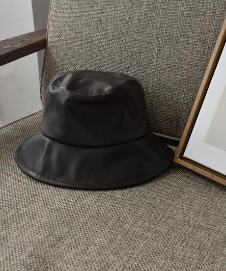 cap-02036 ECO LEATHER BUCKET HAT