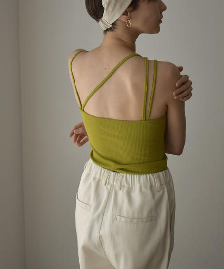 tops-04092 MADE IN JAPAN DEFORMED CAMISOLE WITH CUP