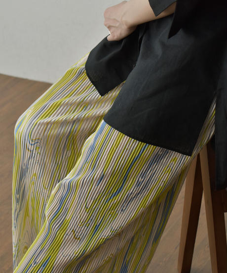 bottoms-02121 MARBLINGMARBLING PLEATED PANTS