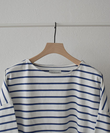 tops-04090 MADE IN JAPAN OVERSIZED BORDER BASQUE SHIRT