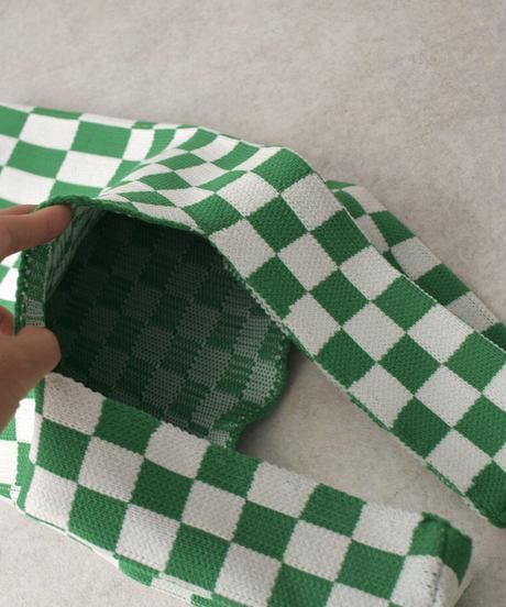 bag2- 02579 CHECKERED FLAG KNIT BAG