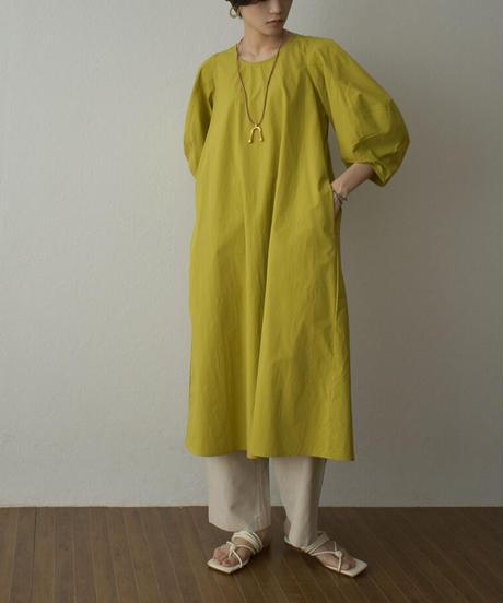 onepiece-02027  BALLOON SLEEVE COTTON DRESS