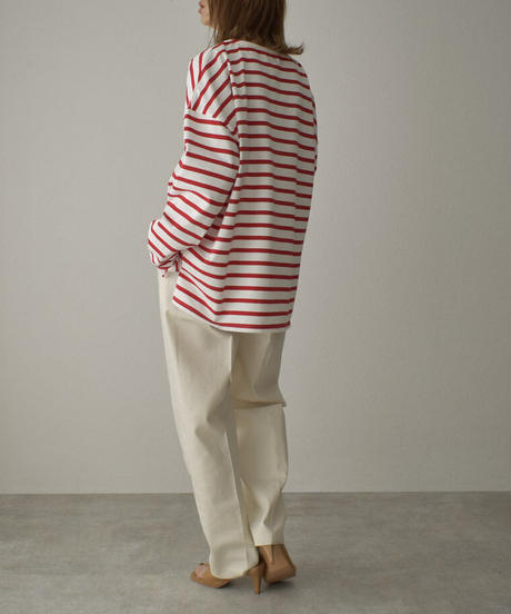 tops-04082 MADE IN JAPAN OVERSIZED BORDER BASQUE SHIRT
