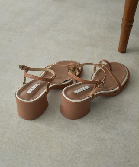 shoes-02134 CHUNKY Heel STRAP SANDALS