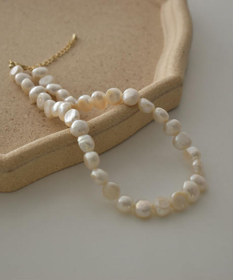 necklace2-02048 WA04 MADE IN JAPAN 36CM OR 40CM BAROQUE FRESHWATER PEARL NECKLACE
