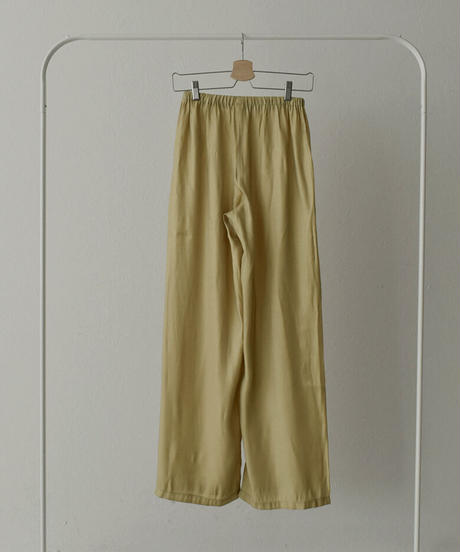 bottoms-02079   GLOSSY SATIN WIDE PANTS