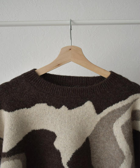 knit-02126 DRAWING KNIT PULLOVER