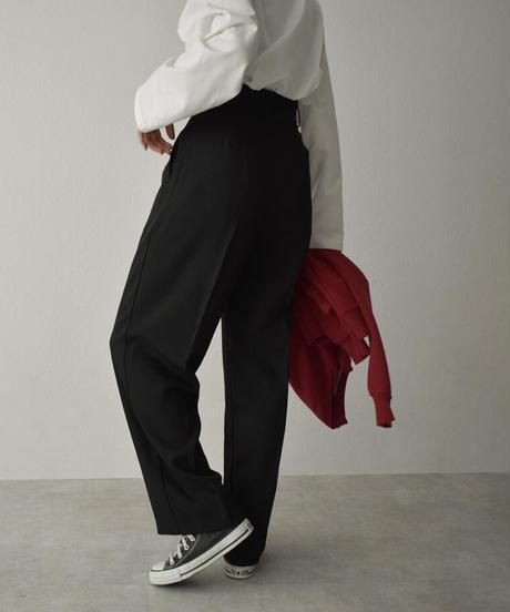 bottoms-02127 TUCK STRAIGHT PANTS