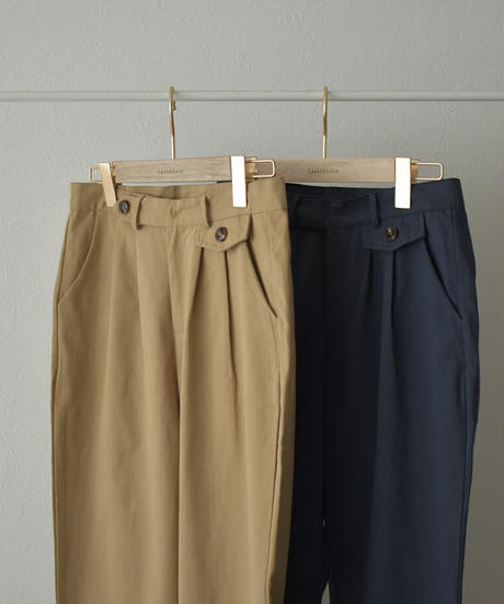 bottoms-02114 COTTON CROPPED TAPERED PANTS