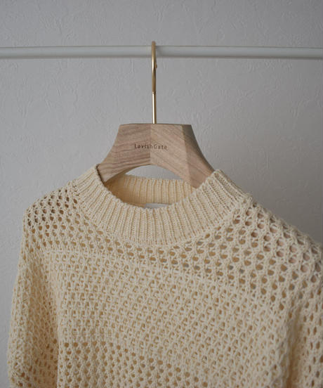 knit-02143 MESH KNIT PULLOVER