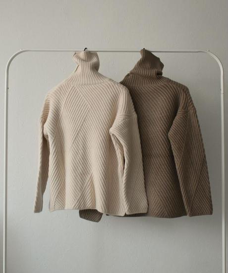 knit-02102 RIDE RIB TURTLENECK KNIT