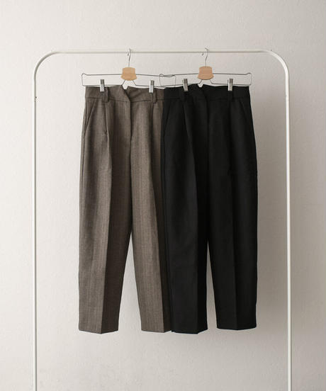 bottoms-02089 WAIST DESIGN ONE-TUCK TROUSER PANTS