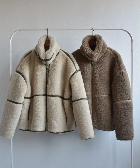 coat-02019 WOOL 50 ECO MOUTON PIPING BOA BLOUSON