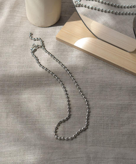 necklace2-02033 WA04 JAPAN MADE BALL CHAIN NECKLACE 5MM BALL SHORT TYPE