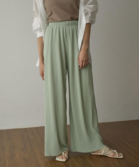 bottoms-02118 COLOR PLEATED PANTS