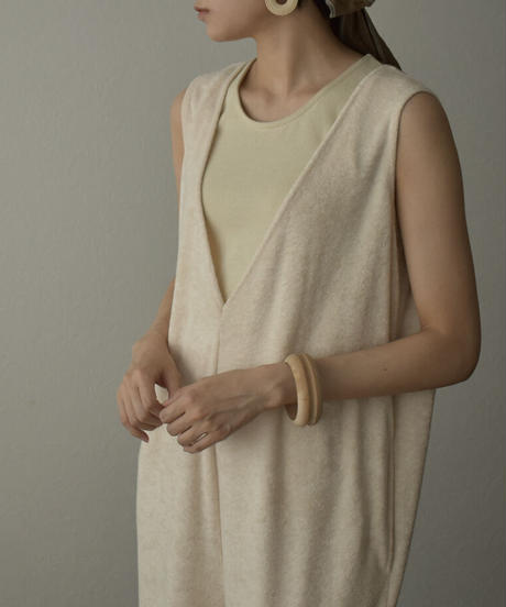 onepiece-07003 PILE DEEP V-NECK ALL-IN-ONE