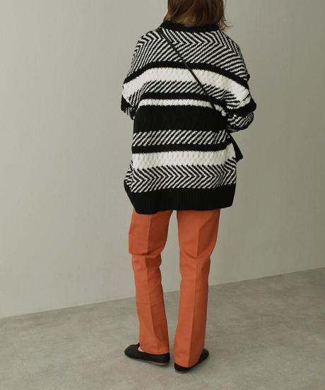 knit-02128 RANDOM JACQUARD KNIT PULLOVER