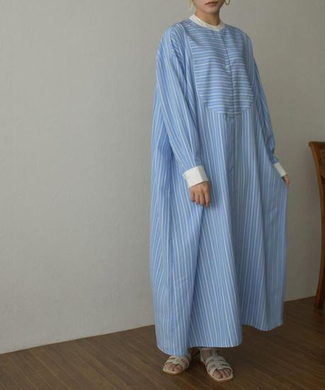 onepiece-07004 STRIPED CLERIC SHIRT DRESS