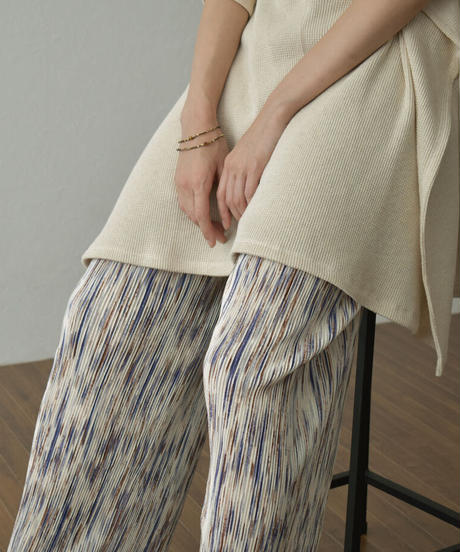 bottoms-02117 MULTICOLOR PLEATED PANTS