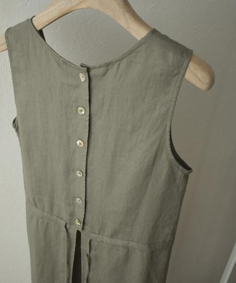 onepiece-02029 LINEN APRON DRESS