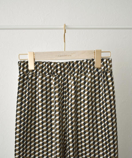 bottoms-04038 MADE IN JAPAN BLOCK PRINT RELAX ROUGH PANTS