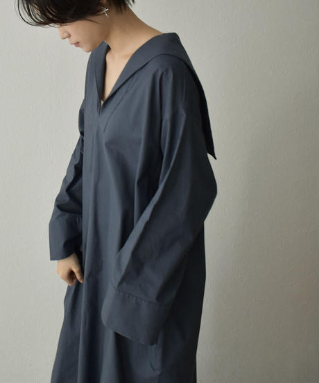 onepiece-04048 MADE IN JAPAN  COTTON SAILOR COLOR DRESS