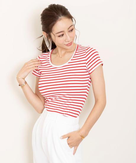 【予約商品】ラウンドネックボーダーTシャツ