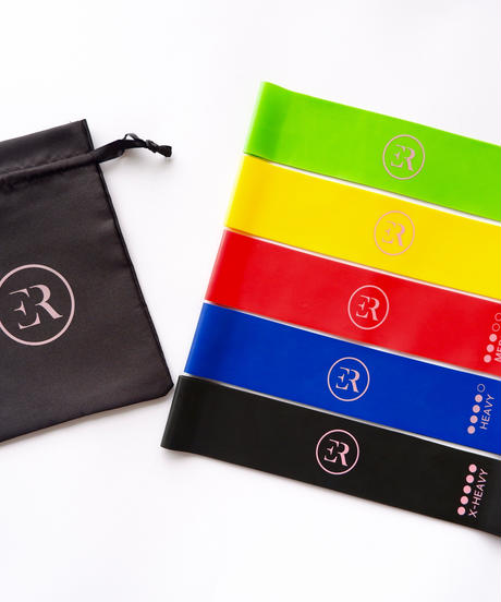 5 Resistance Bands Set  +  Free Pouch Bag  (税込み)