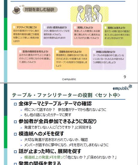 カフェ型トークをしよう~ワールドカフェによる交流の場の企画・運営セット(PDF)