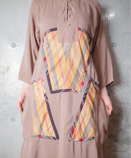 """KOOS VAN DEN AKKER"" Rayon Dress from 1980s vintage"