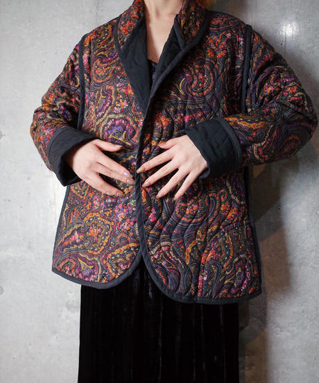 Paisley Wave Quilting Jacket Reversible