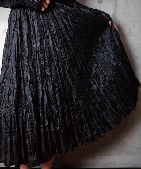 Wrinkle Gather Skirt
