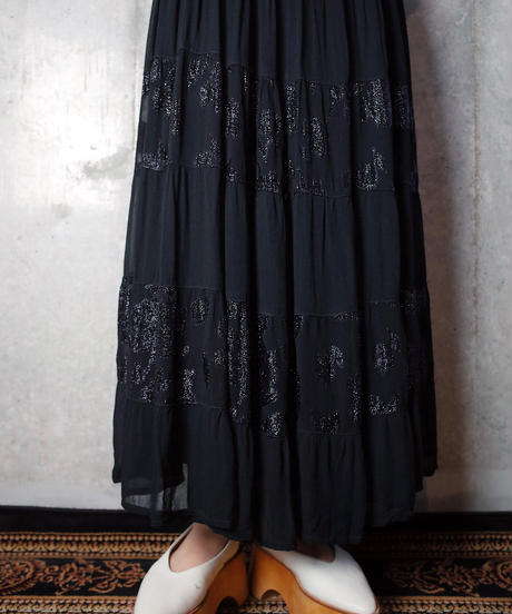 Leopard Rayon Sheer Tiered Skirt