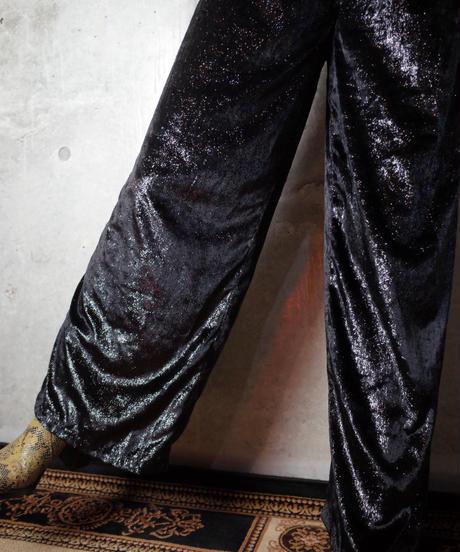 Glitter Velvet Wide Pants