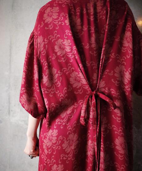 Flower Rayon Front Open Dress