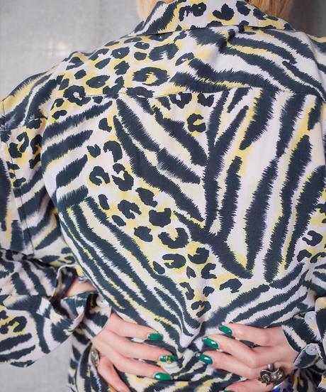 Tiger & Leopard Silk Shirt