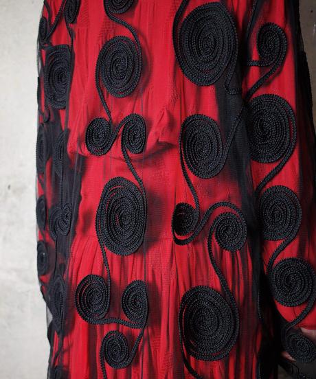 Uzumaki Embroidery Mesh Gown