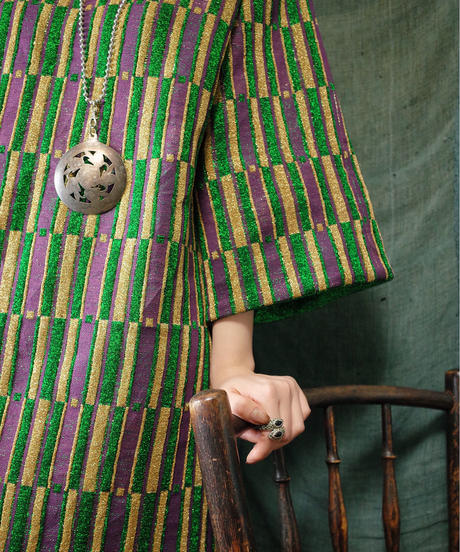 "Odd Stripe Knit Dress from 1970s ""ISRAEL"" vintage"
