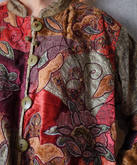 Crazy Patchwork Embroidery Jacket