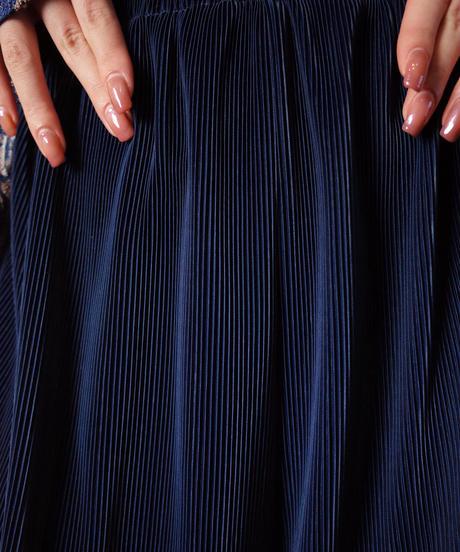 Flower Jacquard Jacket × Navy Pleats Wide Pants Set up