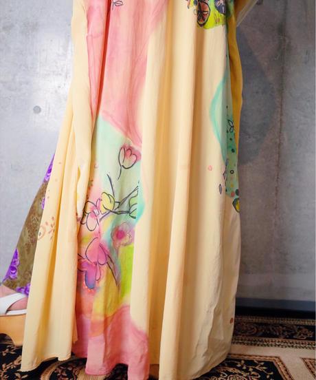 Hand Paint Crazy Art Gown