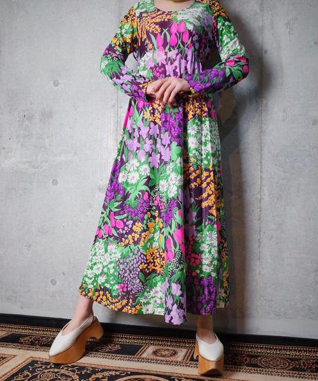 Flower Gypsy Dress c.1970