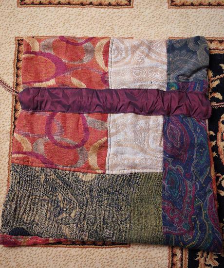 Vintage Fabric Patchwork Remake 巾着6