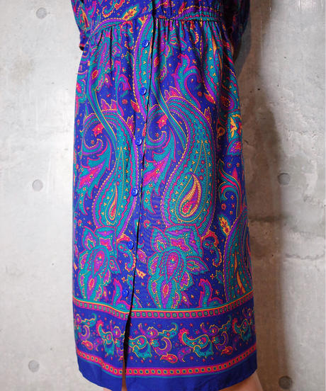 Paisley Rayon Front Open Dress