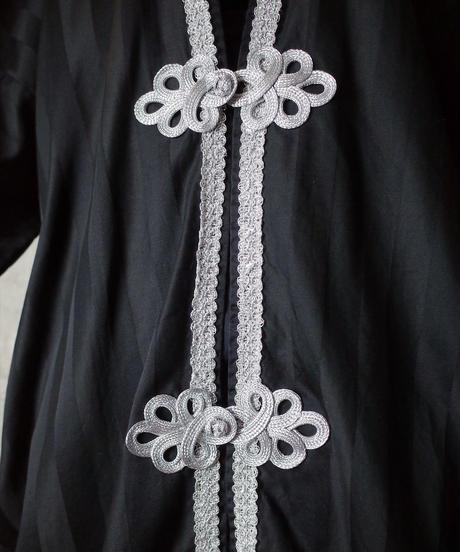 Remake Silver China Black Stripe Gown