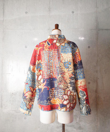 Exotic Quilting Mao Caller Jacket Reversible