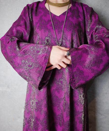 Oriental Jacquard Flower Dress